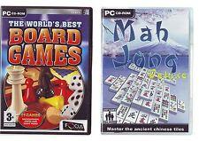 The World's Best Board Games & Mah-jong Deluxe - 2 Juegos De Pc-rápido post-en muy buena condición
