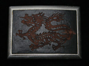 RB13105 REALLY COOL CHINESE DRAGON FANTASY ART LEATHER BELT BUCKLE