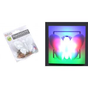 1 x Nachtlicht LED Schmetterling  Farbwechsler  Kinder Nachtlampe Steckdose