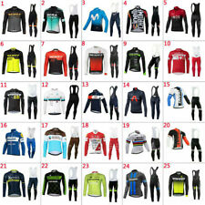 2020 New Mens Team Cycling Jersey Cycling Long Sleeve Jersey And Bib Pants Set