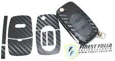 CARBON Folie Dekor Schlüssel Audi A A3 S3 8L A4 S4 B5 B6 A2 A6 C5 TT 8N S Line
