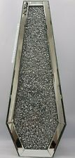 Silver Decorative Floor Vase Mirrored Sparkly Diamond Crush Extra Large Tall