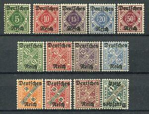 GERMANIA REICH 1920 SERVIZIO SERIE COMPLETA MNH** UNIFICATO 28AA/28OO
