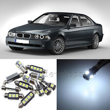 Error Free White 22pcs Interior LED Light Kit for 97-03 BMW 5 Series E39 525i