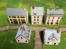 Set C 5 X 28mm NORMANDY PREPAINTED BUILDING KITS