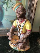 "Vintage Monkey Drumming Statue 15"" x 9"""