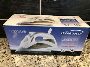 New Brentwood Appliances Steam Spray Clothes Iron White 1200 Watt Auto Shut Off