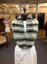 CHINCHILLA MATCHING COLLAR & CUFFS SET DRESS UP OLD COAT SWEATER TO LOOK NEW!