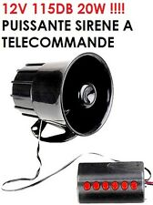 TRES PUISSANTE SIRENE ELECTRONIQUE 6 SONS 12V 115db SPECIAL CAMPING CAR! GENIALE