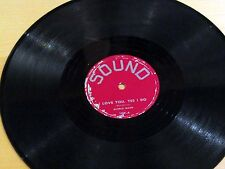 Teen Pop 78 Rpm GLORIA MANN Earth Angel / I Love You, Yes I Do SOUND 109