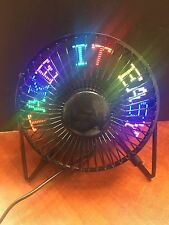 USB LED PROGRAMABLE FLOATING MESSAGE TABLE FAN FEATURING RGB CAPABILITIES