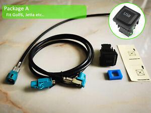 Refit Rear USB for RCD330 plus Noname Desay 187B Jetta Golf MK5 MK6 passatCC EOS