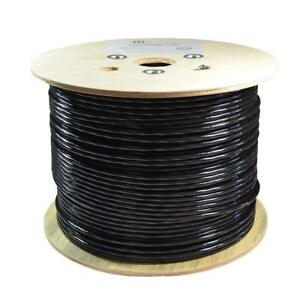 Open Box 1000FT CAT6A STP SHIELDED DIRECT BURIAL CABLE 23AWG SOLID COPPER 550MHZ