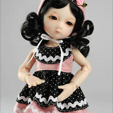 """Dollmore 1/6 Bjd 10"""" Clothes Dear Doll Size - Savora Dress Set (Black & Pink)"""