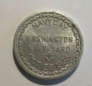 USS CONSTITUTION WASHINGTON NAVY YARD OCT. 28 1935 ALUMINUM MEDAL TOKEN