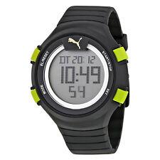 Puma Fans 100 L Digital Dial Black Rubber Mens Watch PU911281001U