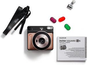Brand new! Fujifilm 108076174 Instax Square SQ6 Instant Film Camera - Blush Gold