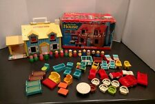 Vintage Fisher Price Little People Play family YELLOW Tudor House #952