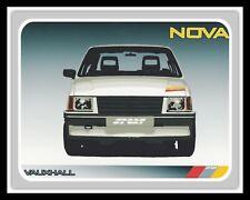 VAUXHALL NOVA SPORT CAR GARAGE WORKSHOP NOSTALGIC METAL PLAQUE TIN SIGN 1740