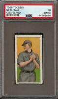 Rare 1909-11 T206 Neal Ball Tolstoi Back Cleveland PSA 1.5 (MC) Low Population