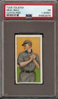 Rare 1909-11 T206 Neal Ball Tolstoi Back Cleveland PSA 1.5 (MC) Low Population