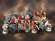 Warhammer 40k Space Marines Tacticals with Captain Some Black Reach