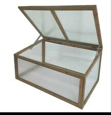WOODEN COLD FRAME 100CM X 65CM TWIN WALL GREENHOUSE PLANTER GROW HOUSE
