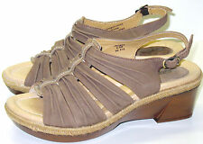 EARTH Jacinta Acorn Leather Sandals Women's US Shoe Size 6.5M