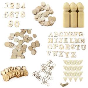 10-100pcs Wooden DIY Peg Doll Wedding Home Decor Unfinished Handmade Puppet Toy