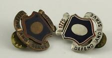 Vintage Us Military Insignia Army Corps Crest Dui Pin Adjutant General 1775 Pair