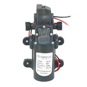 """1/2"""" BSP Male 12V 80W Diaphragm Water Pump Self-priming Auto Pressure Switch"""