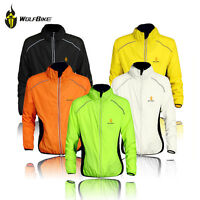 Reflective Bike Bicycle Cycling Jackets Sport Clothing Windproof Coats Jerseys