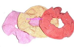 Hair Scrunchie All that Glitters Pink Gold Orange Scrunchies by Sherry