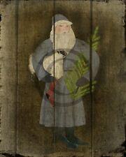 Primitive Christmas Santa Claus Belsnickle Sheep German Twig Tree Print 8x10