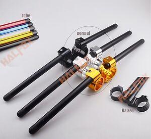 43/45/46/48mm Fork Clip-ons Handle Bars CNC Riser Regular Handlebar  anodized