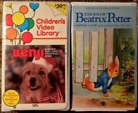 """Benji"" & ""Tales Of Beatrix Potter"" Children's Video Library VHS Lot Of 2"