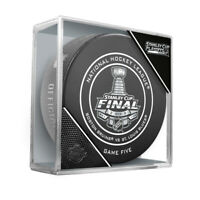 2019 Stanley Cup Finals Game 5 Bruins vs. Blues Official Game Hockey Puck Cubed
