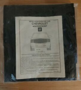 New GM 23444797 Chevrolet GMC Winterfront Grill Cover 2014-17 w/Chevy Emblem