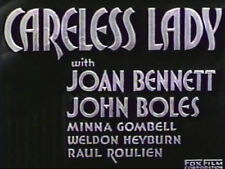 CARELESS LADY (DVD) - 1932 - Joan Bennett, John Boles