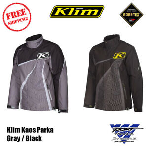 Klim Kaos Parka Gray / Black Snowmobile Jacket Insulated 3803-000-XXX-XXX