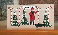 Cat's Meow Village Christmas Tree Lot accessory - cute shelf sitter