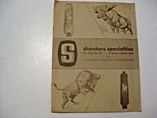 Vintage Shooters Specialties Hunting Catalog & Price List ~ No Date