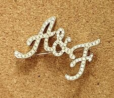 A&F Abercrombie and Fitch Rhinestone Pin Brooch Clothing Accessory