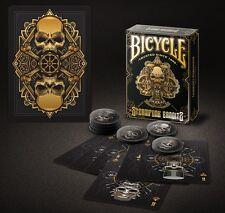 Bicycle Steampunk ponte (Black) by Gamblers warehouse poker carte da gioco