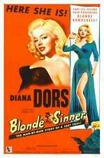 Blonde Sinner Poster 02 Metal Sign A4 12x8 Aluminium