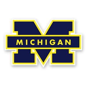 Michigan Wolverines M Logo Sticker Die Сut Decal Vinyl Car Window Truck Cornhole