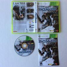 Spacemarine SPACE MARINE Xbox 360 Complete CIB PERFECT DISC! Fast Ship World!!!+