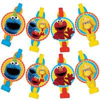 SESAME STREET Stars Blowouts (8)  Birthday Party Supplies Favors Elmo Big Bird