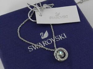 Swarovski  Generation Pendant, Small, Blue, Rhodium Plated