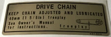 HONDA NX650 DOMINATOR DRIVE CHAIN CAUTION WARNING DECAL
